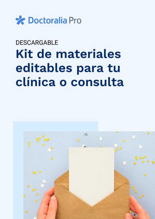 Kit de materiales de marketing para especialista